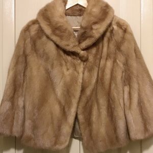 Mink short coat.
